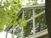 Sunroom with clearstory windows