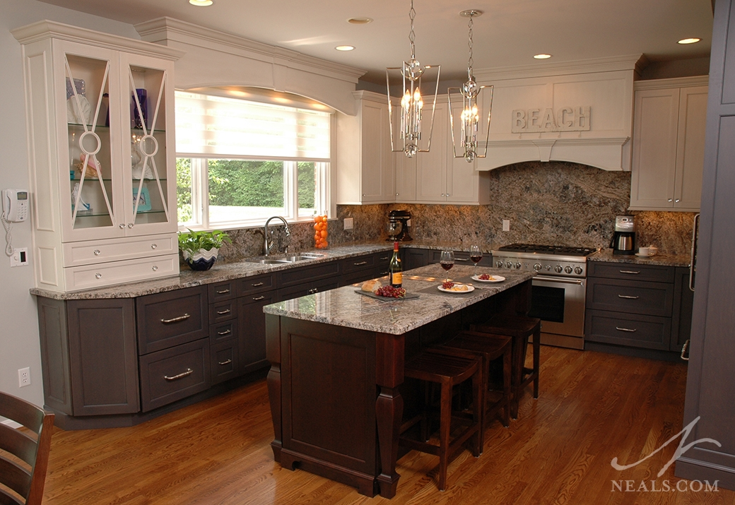 Three-Color Transitional Kitchen