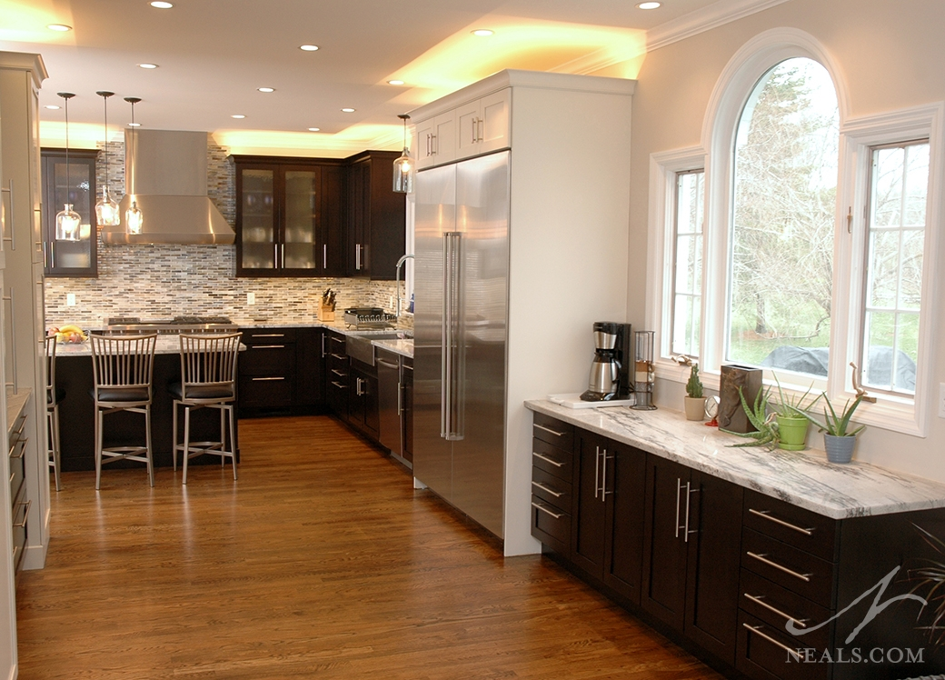 A casual contemporary kitchen remodel in Springdale, Ohio.