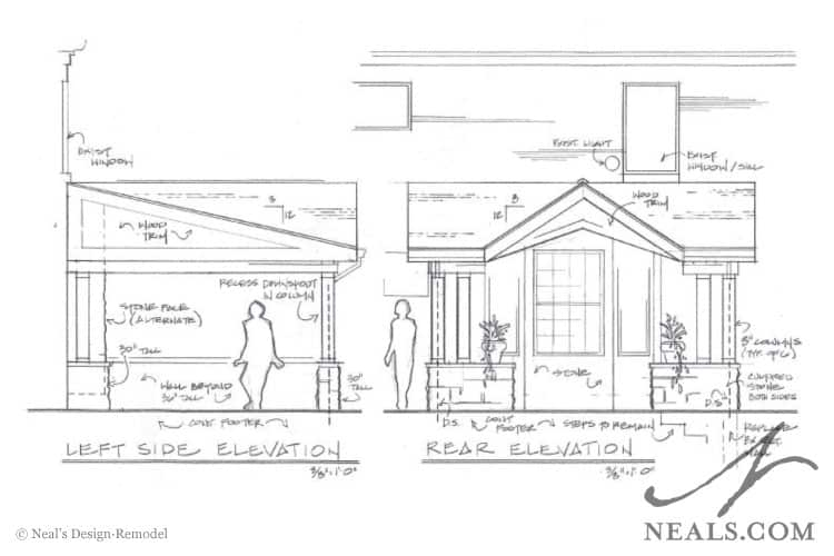 Outdoor Living Room Perspective Drawing