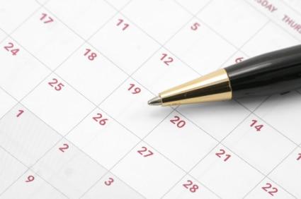 Mark your calendar.