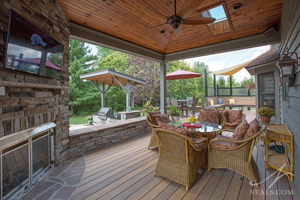 Multi-Featured Backyard Remodel in West Chester Ohio